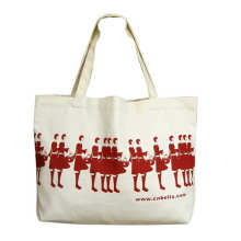 Custom logo white blank fashion cotton canvas tote shopping bag for grocery