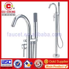 Grifo europeo de la bañera / de la ducha del piso tipo para el exterior o el cuarto de baño