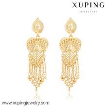 91037- Xuping Latest Factory Direct Sale India Jewelry Tassel Earrings