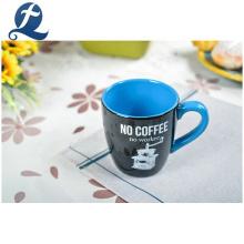 Venda quente por atacado personalizado impresso artesanal decoração de casa conjunto de xícara de café em cerâmica