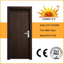 Diseños de la puerta del MDF del PVC sólido interior de la casa moderna (SC-P165)
