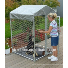 perrera para perros al aire libre con techo