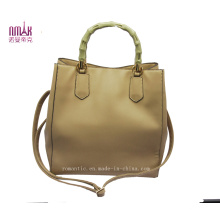 Bamboo Handle Shopper Tote Bag Handbag (N-1030)