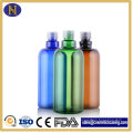500ml Plastic Pet Bottles Round Shape Shampoo Bottles