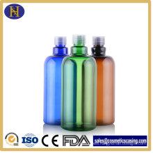 500ml Plastic Pet Bottles Round Shape Shampoo Bottles