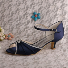 Sandali da sera blu navy Mary Jane