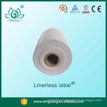 Hot selling new technology blank linerless sticker label