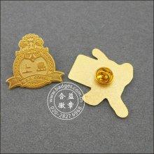 La insignia militar plateada oro de encargo del metal (GZHY-BADGE-087)