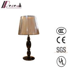 Полированная Черная смола прикроватные настольная лампа для отель проект
