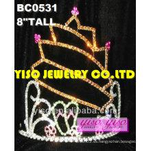 Tiaras de desfile de diamantes de imitación