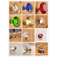 K9 cristal clair boutons de l'armoire de cuisine cristal bouton en verre