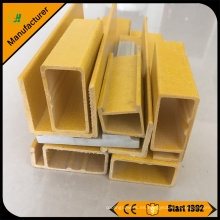 Precio de fábrica FRP fibra de vidrio pultruido perfil de tubo redondo y rectangular de China