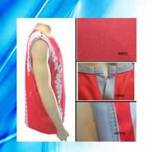 100% Polyester Man′s Sleeveless Basketball Wear