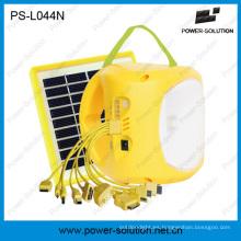 Lámpara portátil de litio LED Lámpara solar con carga de teléfono