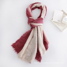Lady Two Tone Block Color Viscose Scarf (YKY1128)