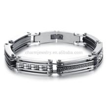 American joyería de joyería creativa personalidad afluencia patrón de los hombres saldrá con una pulsera de acero de titanio GS733