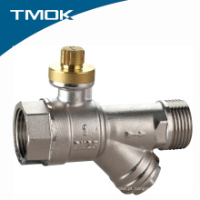 Válvula de esfera de bronze Lockable de alta qualidade com filtro Valvula na china