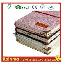 Design agradável Knit Notebook de papel de capa dura para presente