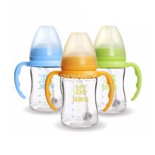 cheap bulk eco friendly cute borosilicate glass baby feeding bottles