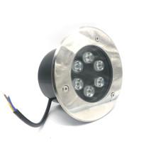 Ao ar livre à prova d 'água IP67 6 W Recesso LED Inground Passo Luz Iluminação da plataforma (12 V 24 V AC / DC 110 V 220 V branco Quente, branco fresco, amarelo, verde, azul, vermelho, Cor RGB)