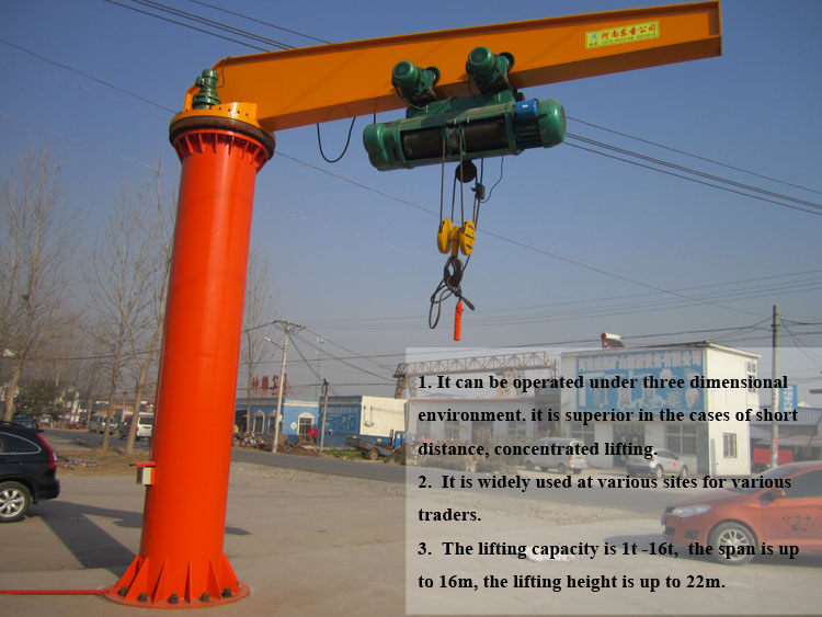 Fixed Pillar Mounted Jib Crane