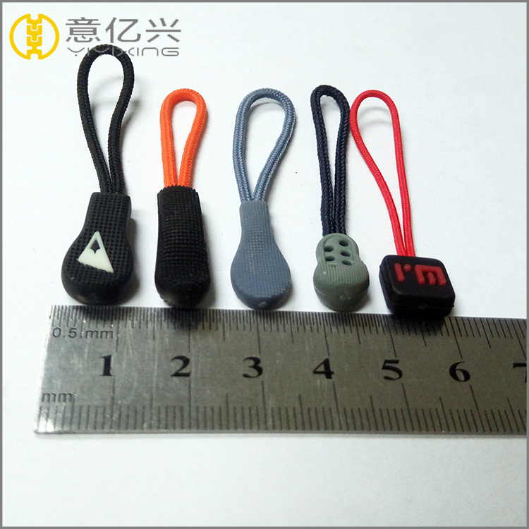 Various Styles Of Silicone Rubber Zipper Pull