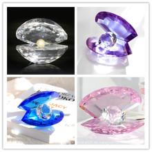 Delicada decoración del hogar Crystal Shell Diamond Crystal Mussel