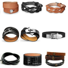 Mens accessory leather strap bracelet leather bands
