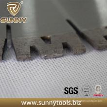 Segment de granit de coupe de diamant de forme de W pour la scie de diamant de 300mm-800mm