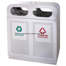 Aço inoxidável Reciclagem Outdoortrash Can / Litter Bin (DL43)