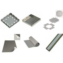 Componentes metálicos de blindaje EMI