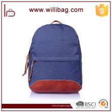 High Quality Vintage Fashion Casual Canvas Crazy Horse Leather Men Backpack Backpacks Shoulder Bag Bags For Lady Rucksack