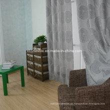 American Prefer Linen Style 100% poliéster pedaço tecido tingido cortina