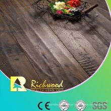 Household 12.3mm E0 HDF AC3 Embossed Oak V-Grooved Laminated Flooring