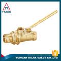 "tank brass float balance ball valve with 8"" plastic ball union brass stem full port DN100 for water machine manual power CE PN40"
