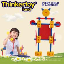 Дошкольная пластиковая крытая детская игровая конструкционная игрушка
