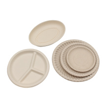 Round Plate Biodegradable Bagasse Sugarcane Plates Sugar Cane Plate Disposable 6inch 7inch 9inch 10inch 12inch Eco-friendly Yien