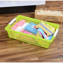 Plástico plástico de alta calidad de la cesta del almacenamiento de los PP de la calidad superior con la manija