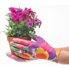 Blumendruck-Nitril-Garten-Arbeitshandschuhe / Nitril eingetauchte Gartenarbeit-Arbeitshandschuhe