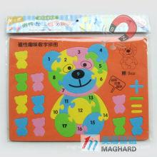 EVA foam magnetic number puzzles, educational toys for children