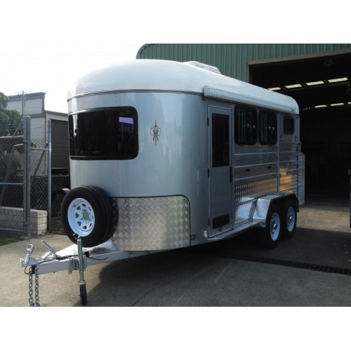 Two Horse Angle Load Horse Trailer Deluxe