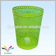 Decorative household metal mesh waste paper bin compactor