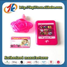 Telefone promocional com brinquedo de garrafa em forma de flor