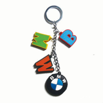 Promotional Custom Shaped Soft PVC Pendant Keychain