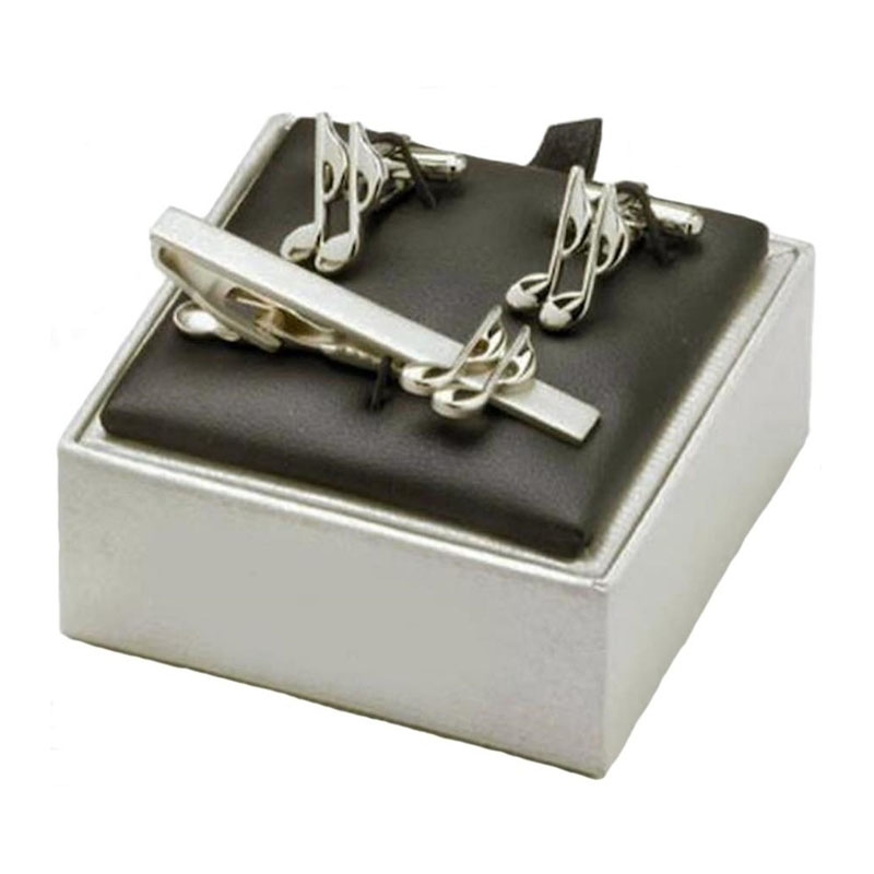 Music Quaver Tie Bar Cufflink Set