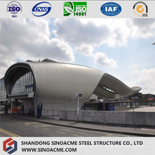 Bâtiment de botte de tuyau de structure métallique pour la gare routière
