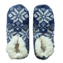 Snowflake Knitted Floor Shoe Socks for Spring Autumn and Winter
