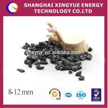 8-12mm высокое качество скорлупы ореха активированного угля для очистки питьевой воды