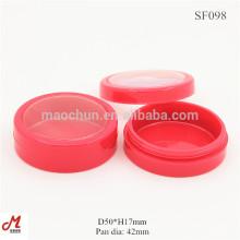 SF098 Plastikpulver Glascreme Plastikgefäße und Deckel