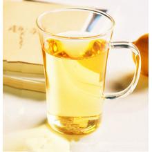 Tasse à thé en verre à base de borosilicate sans plomb avec poignée